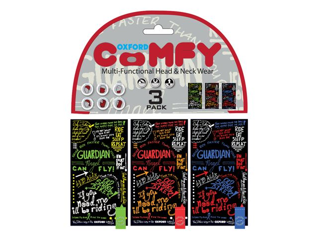 Oxford Comfy Graffiti Multi 3-Pack