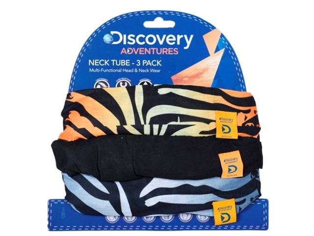 Discovery Adv Neck Tubes Tiger 3 Pack