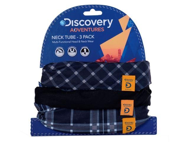 Discovery Adv Neck Tubes B&W Tartan 3 Pk