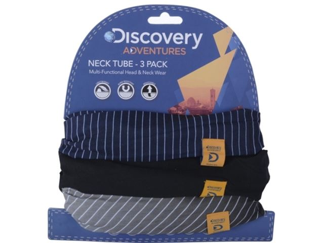 Discovery Adv Neck Tubes Pinstripe 3 Pk