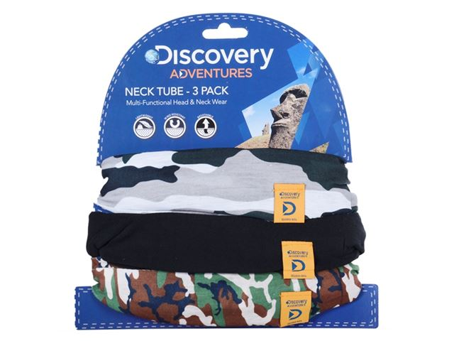 Discovery Adv Neck Tubes Camo 3 Pack
