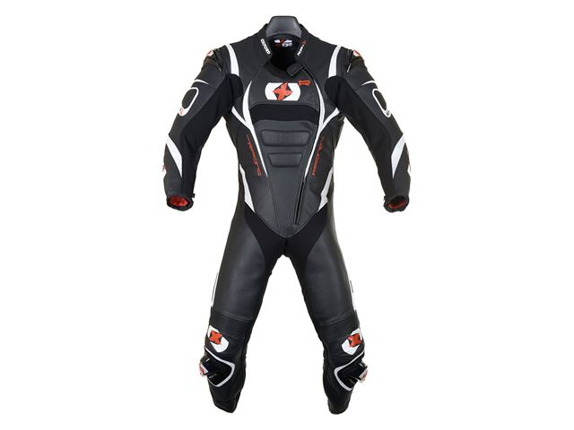 RP-1 MS Leather Suit Black/White XL/44