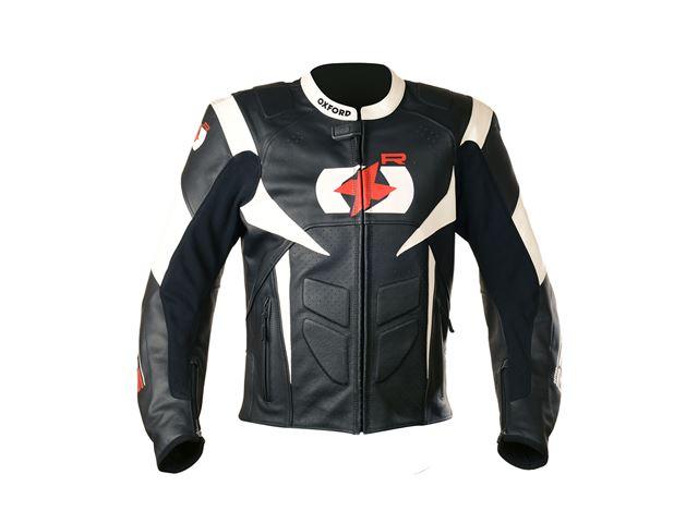 RP-S Leather Jkt Black/White L/42