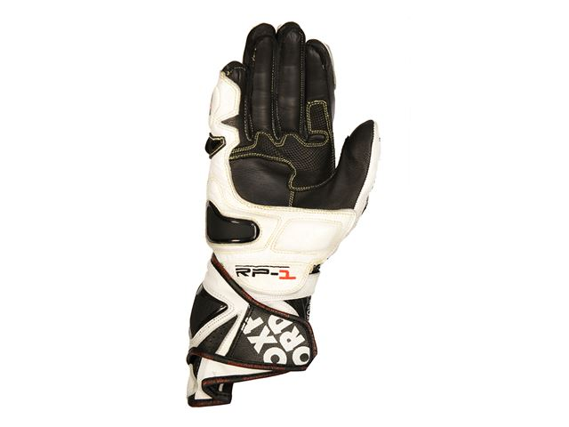 RP-1 Leather  Race Glove White/Black S