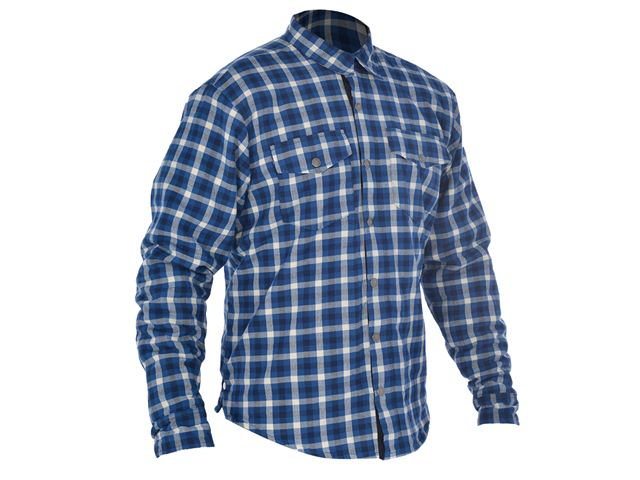 Kickback Shirt Checker Blu/Wht 3XL