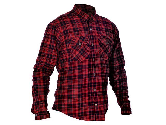 Kickback Shirt Checker Red/Blk 4XL