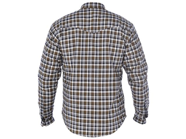 Kickback Shirt Checker Kha/Wht 2XL