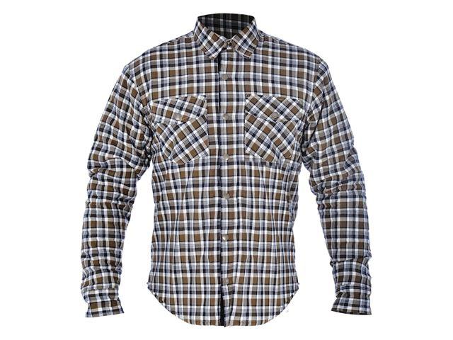 Kickback Shirt Checker Kha/Wht 4XL