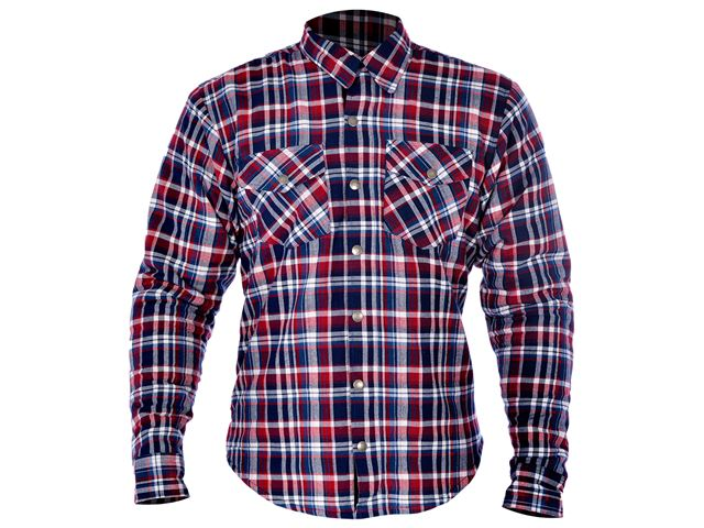Kickback Shirt Checker Red/Blu 3XL