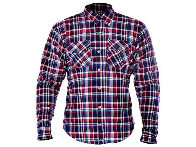 Kickback Shirt Checker Red/Blu 4XL