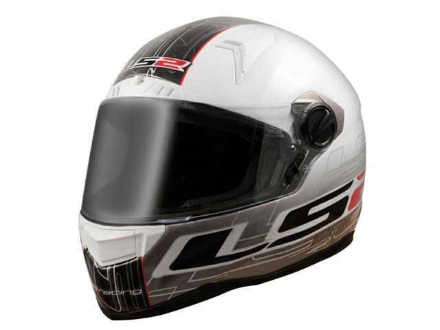 FF 385 LS2 CR1 Racing Gloss White