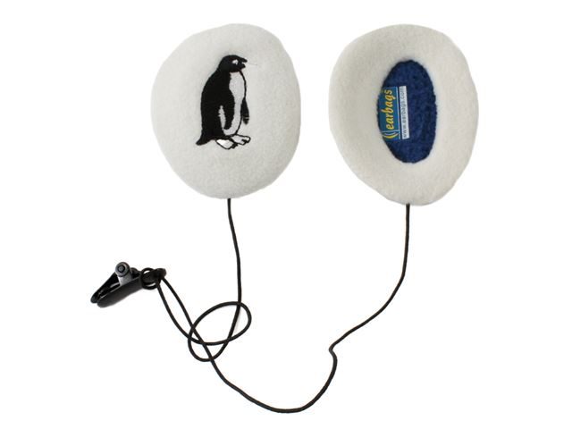 Earbag Børn Hvid Pingvin