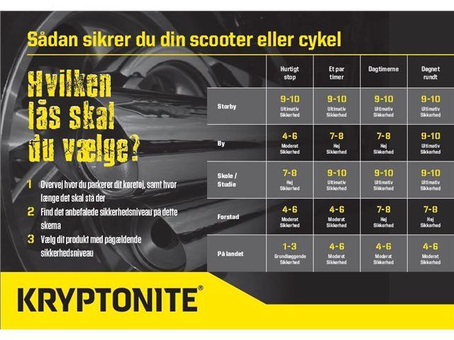 KryptoLok Series 2 995 kæde m/integreret lås 95cm