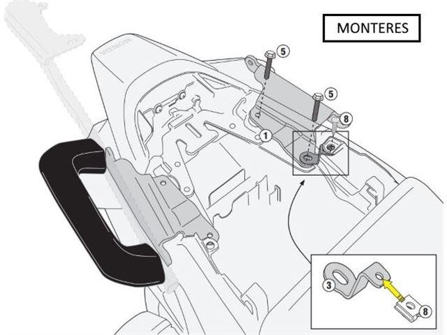 GIVI Mont.Kit til PLXR1132 Uden 1132FZ