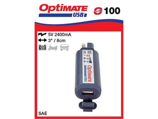 12V Universal USB charger SAE SAE-100 2400ma