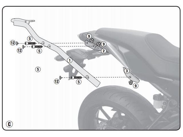 GIVI Bagagebærer u/topplade - MT-07 TRACER 16-