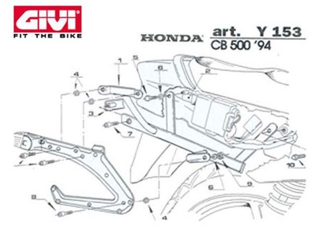 GIVI Mont.Kit TIL N140 CB500 94-