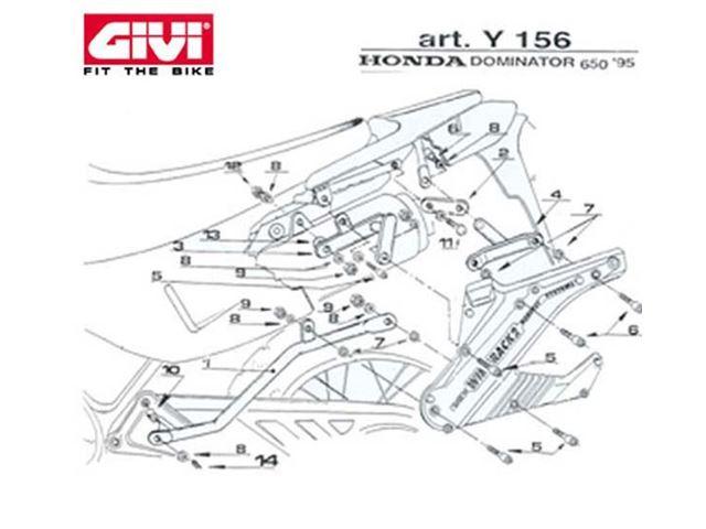 GIVI Mont.Kit TIL N140 NX650 95-01