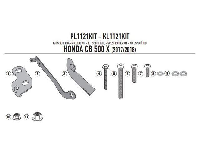 GIVI Mont.kit til PL1121/CAM/PLX1121 Uden 1121FZ