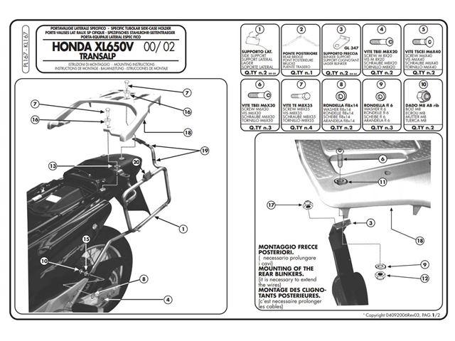 GIVI Taskeholder - XL650V Transalp 00-07