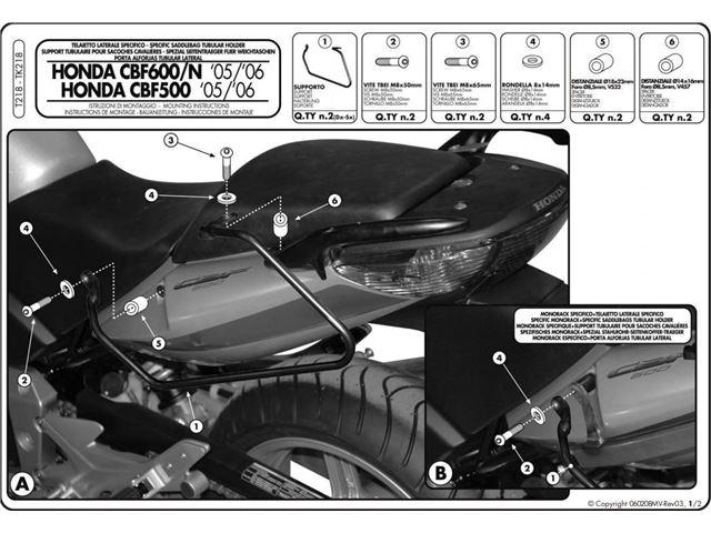 GIVI Taskeholder Softbags - CBF500/CBF600/CBF1000