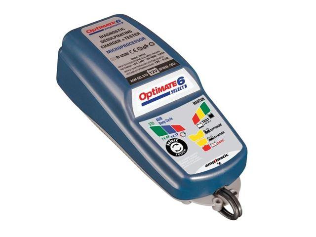 OPTIMATE 6 LADER SELECT m. 12V udtag 5 Amp
